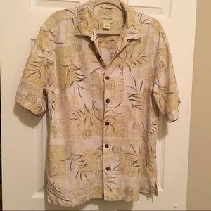 Joseph & Feiss Button Down Silk Hawaiian Shirt